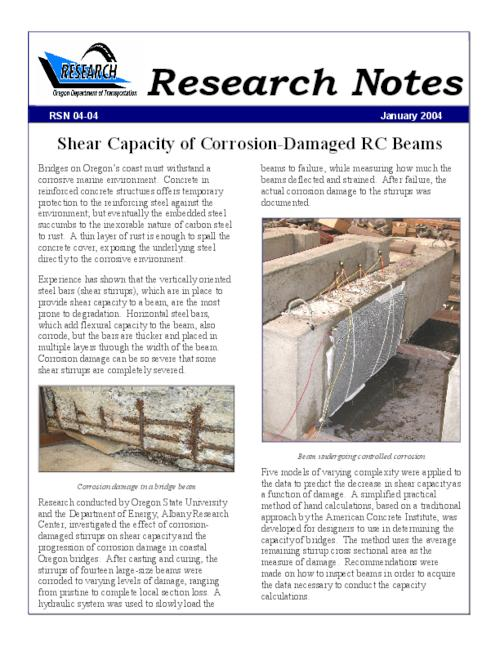 "This archived document is maintained by the Oregon State Library as part of the Oregon Documents Depository Program.  It is for informational purposes and may not be suitable for legal purposes., Title from PDF caption (viewed on June 4, 2010), ""January 2004."", Mode of access: Internet from the Oregon Government Publications Collection."