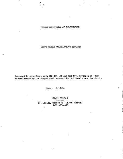 "This archived document is maintained by the Oregon State Library as part of the Oregon Documents Depository Program.  It is for informational purposes and may not be suitable for legal purposes., ""3/15/90."", Title from PDF caption (viewed on Jan. 10, 2011), Mode of access: Internet from the Oregon Government Publications Collection."