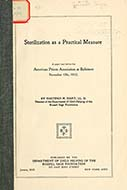 Sterilization as a practical measure: a paper read before the American Prison...